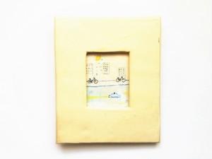 「レモンの夜に」 イラスト原画/陶器の額縁入り