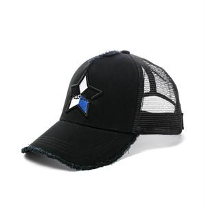【スターリアン】StarLean★ 5パーツ刺繍メッシュキャップ(BLUE)ブラック