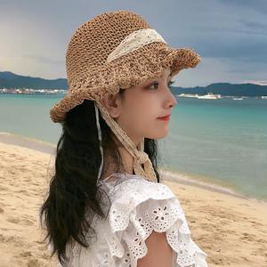 【小物】ins人気レースNew style日よけ帽子