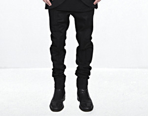 【66%OFF】【MINOAR】Unsulled Black Pants (BLK)