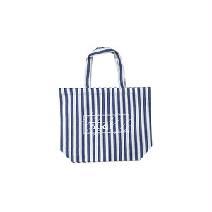 scar /////// OG LOGO COTTON TWILL TOTE BAG / Small (Stripe)