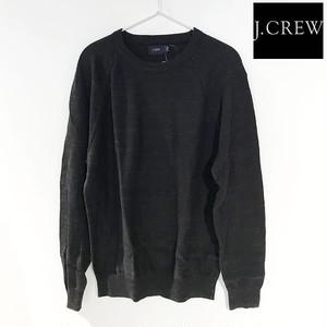 J.CREW(ジェイクルー)Textured cotton crewneck sweater/コットンニットクルーネックセーター/HTHR EBONY【f9518-heb】