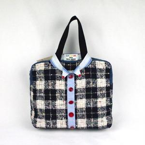 フランス製、ヴィンテージ素材を使ったオシャレ、ハンドメイドバッグ  Lo La Le Paris    Sweet Shirt bag  Perry No,144
