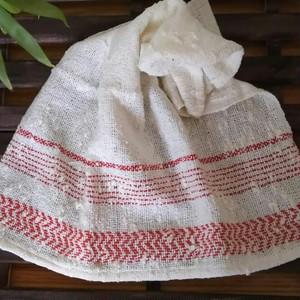 手織りコットンハンカチ*レッド