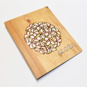 Wood File A4 【Plumeria Circle Pink】