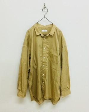 【prit】70/1ピマ高密度ツイルレギュラーカラーオーバーサイズシャツ / 80957
