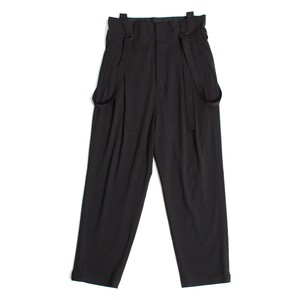 High waist Suspenders Pants - Black <LSD-AH1P4>