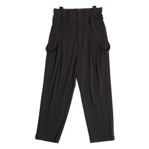High waist Suspenders Pants - Black <LSD-AH1P4>