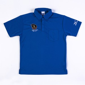 ラインメール青森ポロシャツ ボタン 青