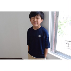 Simva Boys&Girls 604-0001-Navy Football 切り替え 5分袖 Tシャツ