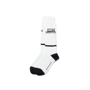 WM BOX LOGO FOOTBALL SOCKS-WHITE