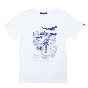 "Ryuichi Ambe ""bird's‐eye surfers"" Tシャツ"