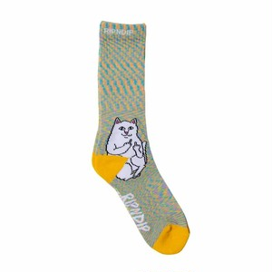 RIPNDIP - Lord Nermal Socks (Gold Rainbow)