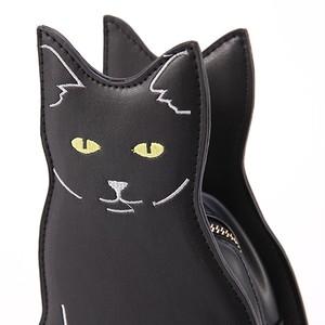 お座りモチーフ 黒猫さんショルダーバッグ ねこのもり
