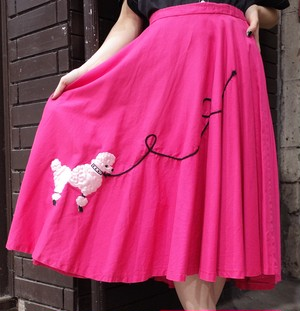 Vintage Poodle cicular skirt  ヴィンテージ プードル サーキュラースカート