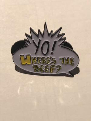 "Hoofarded Fromthesky""Where's The Beef Pin"""