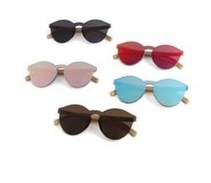 竹の眼鏡ケースとサングラスのセット