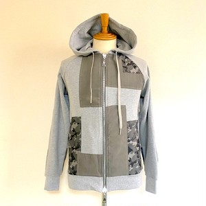 Patchwork Parka Gray