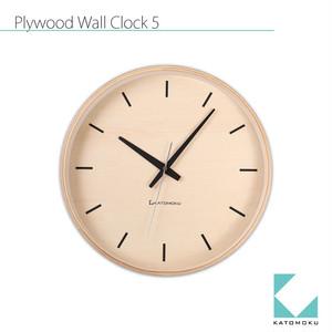 KATOMOKU plywood wall clock 5 km-50NRC 電波時計