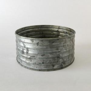 ブリキのポット 波型ワイド S|Tinplate Pot Wave Shape Wide S