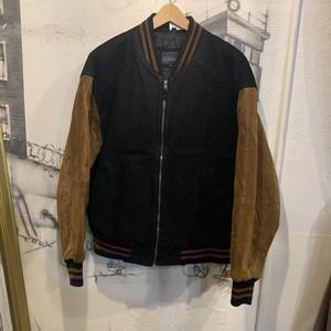 suede leather zip-up jacket