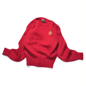 Used☆ Ladies POLO Ralph Lauren CREST LOGO ボートネック ニット セーター