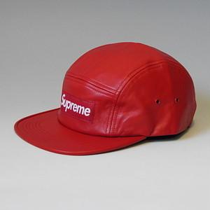 SUPREME シュプリーム 16FW LEATHER CAMP CAP RED レザーキャンプキャップ BOX-LOGO レッド