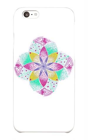 iPhone6/6S スマホケース 曼荼羅点描画1