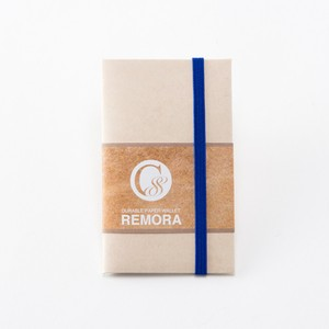 """Durable Paper Wallet """"REMORA"""" / Ivory&Blue"""
