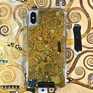 ARTiFY iPhone Xs Max グリッターケース クリムト 生命の樹 ゴールド  AJ00442