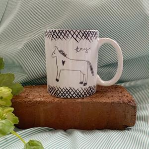マグカップ Horse to try