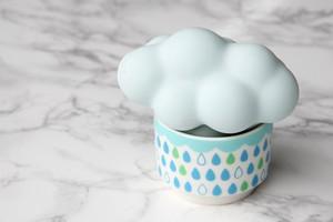 雲の加湿器:ブルー雲×グリーン系カップ・・・スウセラ(sucera)