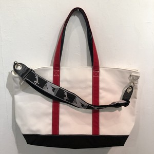 "LARGE Strap Tote ""WRB"" (White x Red x Black)"