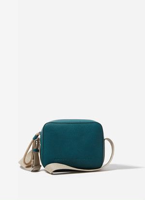 SQUARED FAUX LEATHER CROSSBODY BAG