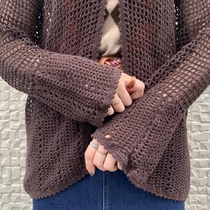 (LOOK) crochet flare sleeve cardigan