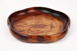 梅型木目刷毛目皿(七寸)
