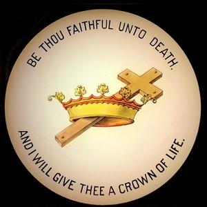幻燈スライド フリーメイソン「十字架と王冠」