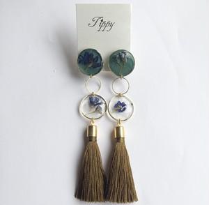 petal tassel earring (gold)