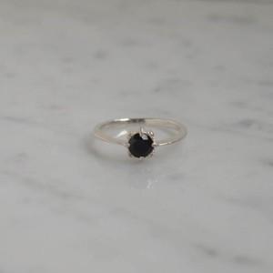 baras.s ring sv/ブラックスピネル【FR160】