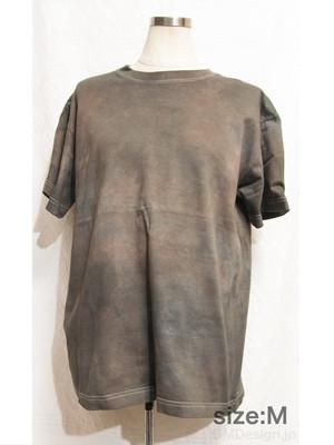 手染め一点ものTシャツ「機械油」M(1-051)