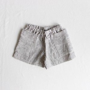 《AS WE GROW 2020SS》Pocket shorts / grey × white striped