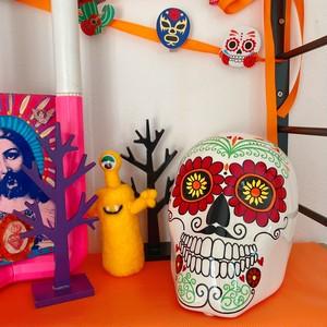 カラベラ メキシカンスカル ハロウィン HALLOWEEN メキシコ雑貨 置物 スカル 死者の日
