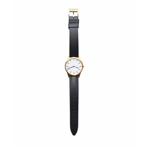 UNIFORM WARES C35 In PVD Gold With Black Rubber Strap