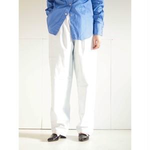 Leather balloon pants Full/White
