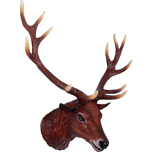 大鹿の頭部 FRPアニマルオブジェ fr130095