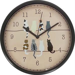 ツイン掛け時計 ネコ
