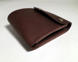 イタリアンレザー 二つ折り革財布[こげ茶]しっくりくる財布