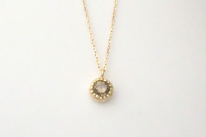 brown diamond necklace ーK18ー