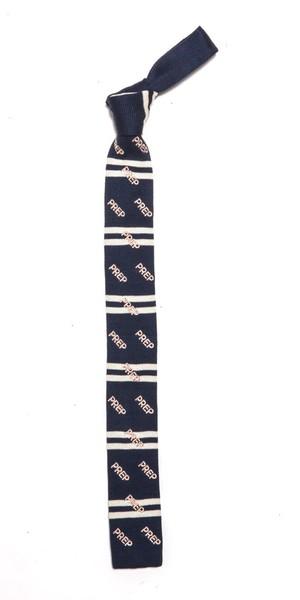 プレップ ロゴ ニットタイ Thames PREP Stripe Knit Tie