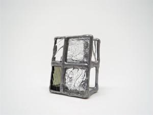 ガラスのカードホルダー(小)Gray